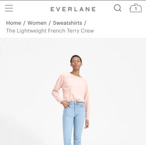 Pink Everlane sweatshirt